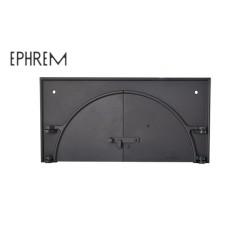 Façade Porte fonte double-battant pour fours à bois domestiques EPHREM