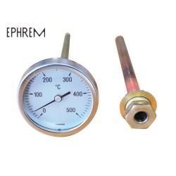 Thermomètre EPHREM Le 0/500° pour four à bois domestique